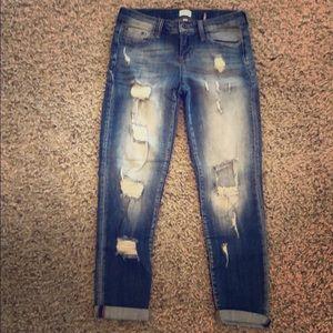 Sneak Peek Destroyed Sexy Boyfriend Jeans size 1